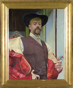 Autoportret z kwiatem ostu [Self-portrait with thistle flower], 1911 Jacek Malczewski (Polish, Beauty In Art, Male Beauty, Point Paint, Roland Barthes, Thistle Flower, Agra, Art Auction, Les Oeuvres, Home Art
