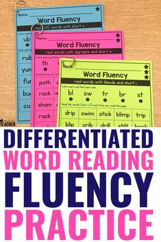 These word fluency activities are perfect for giving new readers lots of practice with different phonics skills. Whether you're working with kindergarten, first grade, 2nd grade or above, these pages are a great intervention. Use them for teaching or as an assessment to help your students build mastery and continue improving. Reading Fluency, Reading Intervention, Kindergarten Reading, Teaching Reading, Guided Reading, Fluency Activities, Reading Activities, Nonsense Words, Teaching Phonics