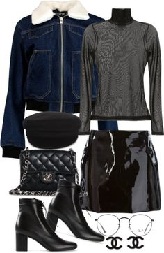 Untitled #3327 by angieswardrobe featuring black leather