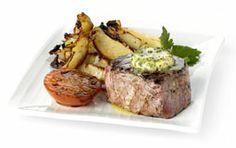 Grilled Scottish Fillet Steak with Herb Butter, Roast
