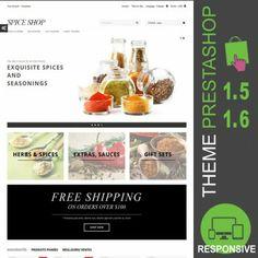 Thème Prestashop 1.5 et 1.6 pour site ecommerce destiné à la vente d'épices et assaisonnements : épices, herbes, chili, curry, safran, cannelle, badiane…