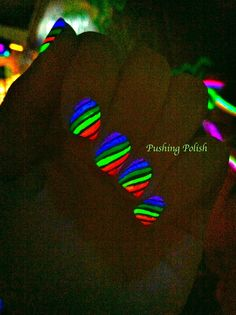 Blacklight polish nail art!