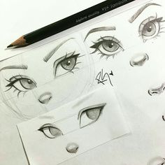 New eye drawing tutorial character design ideas Cool Art Drawings, Pencil Art Drawings, Drawing Sketches, Eye Sketch, Sketching, How To Sketch, Sketch Nose, How To Draw Sketches, Cartoon Drawings