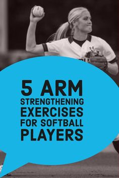 The Best Arm Strengthening Exercises for Softball Players Learn how to strengthen your arm and throw harder with these weight-training exercises. Softball Workouts, Softball Drills, Softball Coach, Softball Players, Girls Softball, Fastpitch Softball, Softball Stuff, Volleyball, Softball Gear