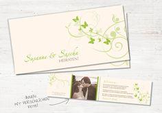 """Hochzeitskarten - EINLADUNG """"Schmetterlinge im Bauch"""" -... - ein Designerstück von WeDo-Hochzeit bei DaWanda"""