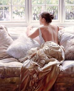 Beautiful Oil Painting by Rob Hefferan. Rob Hefferan is a British artist. His oil paintings are full of sensuality, with nice colors and an admirable technique.