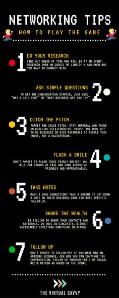networking tips infographic