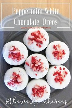 Peppermint White Chocolate Oreos || http://theviewfromhere.is