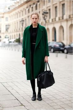 Image result for emerald green coat