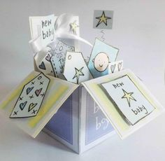 My first pop up box card! by jellypark - Cards and Paper Crafts at Splitcoaststampers