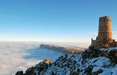 En Imágenes: un espectacular mas de nubes sobre el Gran Cañón