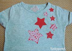 Stars aplique t-shirt