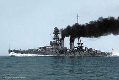 Mutsu's sister ship  IJN Nagato 1920-ish