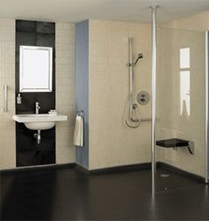 Bathroom for Disabled Person - See more info at http://www.disabledbathrooms.org/