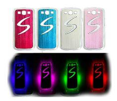 Cover per Samsung Galaxy S3 i9300 Led Cambia colore Flash custodia luce + batteria in dotazione.