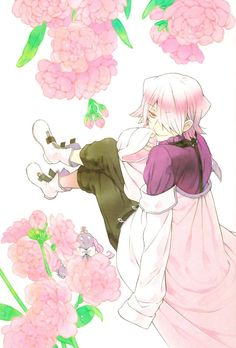 Pandora hearts break and flowers. I love the colors here. It's so soft