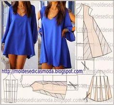 Resultado de imagen para moldes de vestidos sueltos