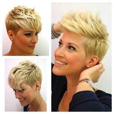 Super cute short layered pixie cut for fine hair