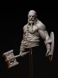 "ArtStation - ""Bress the Old Barbarian"", Joaquin Palacios Viking Character, Character Art, Character Design, Zbrush Character, Polymer Clay Sculptures, Sculpture Clay, Viking Warrior, Anatomy Art, Character Modeling"