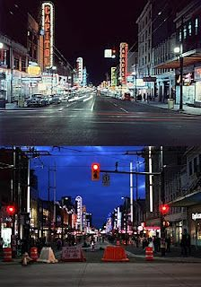 Granville Street from 1959 to now. Very interesting looking at before and after photos. Great Photos, Old Photos, Granville Street, Vancouver City, Vintage Neon Signs, The Great White, Most Beautiful Cities, British Columbia, History