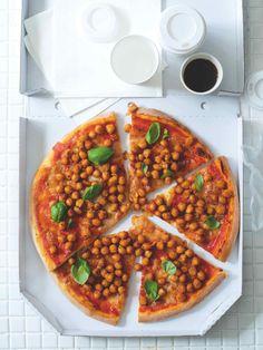 Pizza s cizrnou Korn, Bruschetta, Mozzarella, Vegetable Pizza, Vegetables, Vegetable Recipes, Veggies