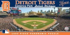 Detroit Tigers - 1000pc Panoramic Jigsaw Puzzle by