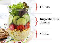 Salada no pote: aprenda a montar uma refeição rápida e saudável