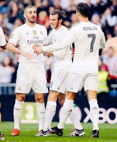 BBC! Benzema, Bale, Cristiano.