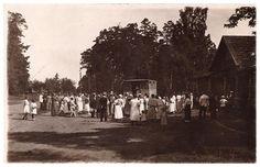 Vana postkaart Võsu kõrtsi ja autobussiga - mOsta - mOsta