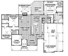 First Floor Plan of Country   House Plan 92444  It smaller then most of the houses, but it is really nice.