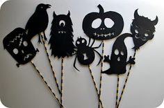 Chez Beeper Bebe: Make This: Halloween Shadow Puppets