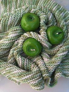 Chunky Handmade Knitting Baby Blanket in Soft green by NesrinArt, $21.00