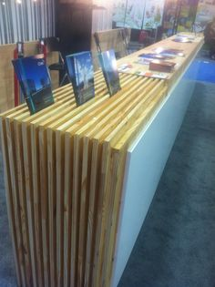 ProChile Booth-- natural brochure stand