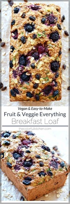 This breakfast loaf is hearty, crispy on the top, soft on the inside and full of flavor. It's perfect for but I've been enjoying it most as a 4 pm energy snack. I recommend toasting a slice and spreading coconut or vegan butter on top…mm! Gourmet Recipes, Whole Food Recipes, Vegan Recipes, Cooking Recipes, Cooking Tips, Recipes Dinner, Easy Cooking, Easy Recipes, Loaf Recipes