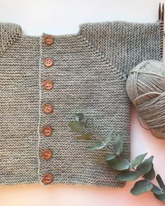 Diy Crafts - Ravelry: Beginner's Jacket pattern by PetiteKnit Baby Booties Knitting Pattern, Baby Boy Knitting Patterns, Knitted Baby Cardigan, Knit Baby Sweaters, Poncho, Free Knitting, Double Crochet, Knit Crochet, How To Purl Knit
