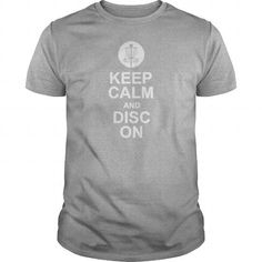 Awesome Tee KEEP CALM AND DISC GOLF ON TARGET FRISBEE BASKET T shirts