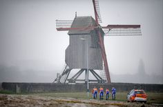 The Rabobank squad training for the Classics