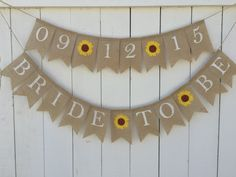 BRIDE TO BE Banner Burlap Bridal Shower Banner by AlohaInspired
