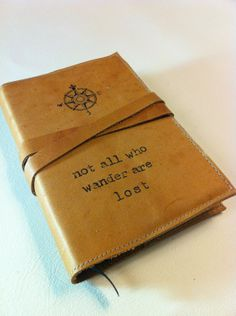 Hand-Printed Leather Journal