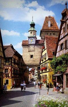 Rothenburg ob der Tauber, Bavaria, Germany