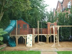 A great big Playhouse Castle with Plenty of activities!