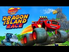 Blaze and the Monster Machines Dragon Island Gameplay Car Games Cartoon ...