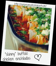 skinny buffalo chicken enchiladas on MyRecipeMagic.com
