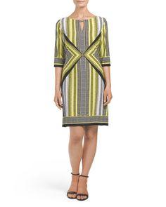main image of Elbow Sleeve Keyhole Dress