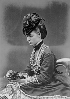 Portrait photograph of the Princess of Wales (1844-1925), later Queen Alexandra, 1870