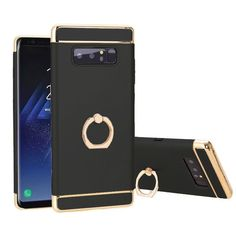Bakeey™ 3 In 1 Plating 360° Rotation Ring Holder Hard PC Case for Samsung Galaxy Note 8