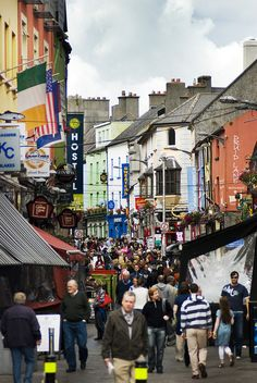 Galway Ireland is about an hour and a half from Dublin. Go there! Friendly people and cute town. #travel #Ireland