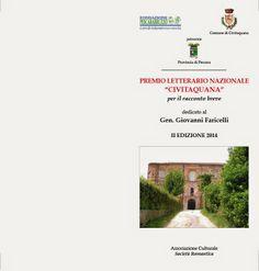 """Premio Letterario Nazionale """"Civitaquana"""": il bando della seconda edizione 2014 Partecipate, il bando scade il 15 giugno 2014!"""