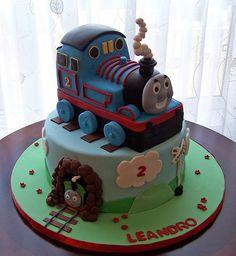 Thomas the Tank Cake... Preston would love this