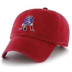 Official New England Patriots ProShop - Throwback Brand Clean Up Cap-Red 8d3ddfd88dc1